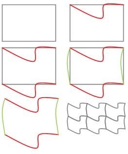 how to create a tessellation using the tracing paper method. Black Bedroom Furniture Sets. Home Design Ideas
