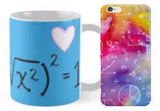 Products with math designs