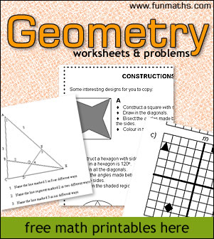 Geometry Worksheets & Problems - high school math worksheets and ...