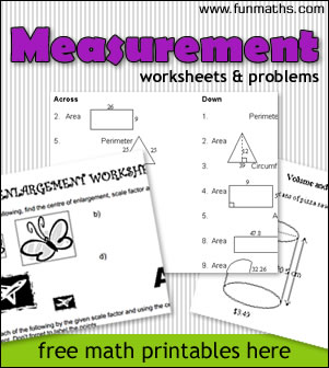 free high school math worksheets measurement area volume perimeter. Black Bedroom Furniture Sets. Home Design Ideas