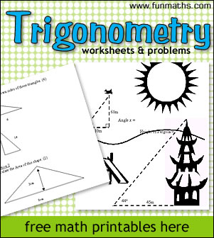 math worksheet : trigonometry worksheets  problems math worksheets to print for  : Real World Math Worksheets